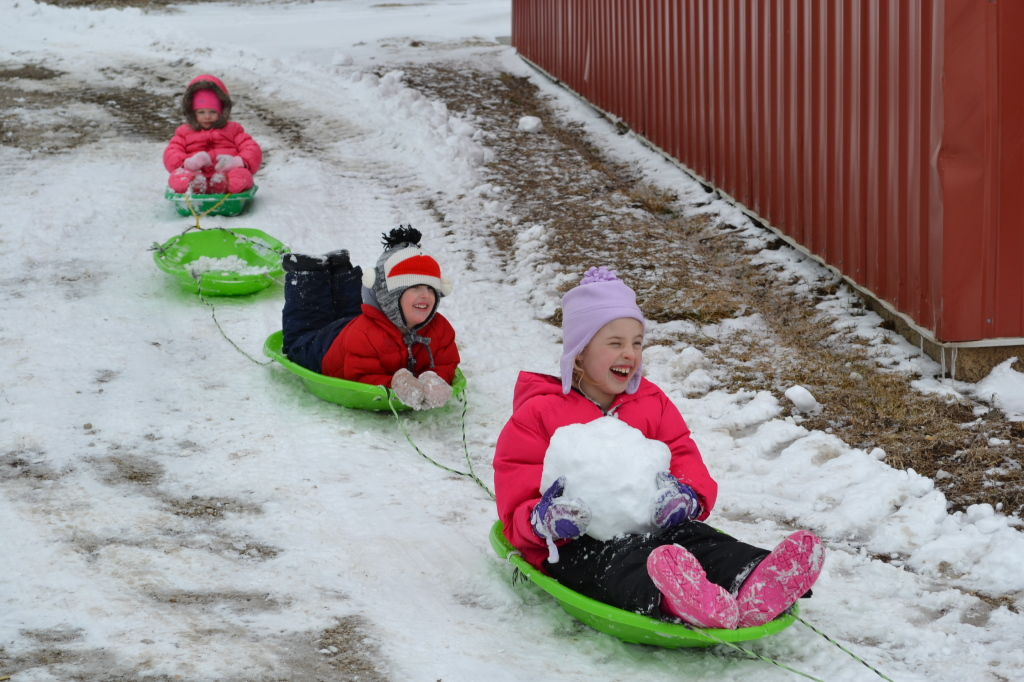 sled train on christmas