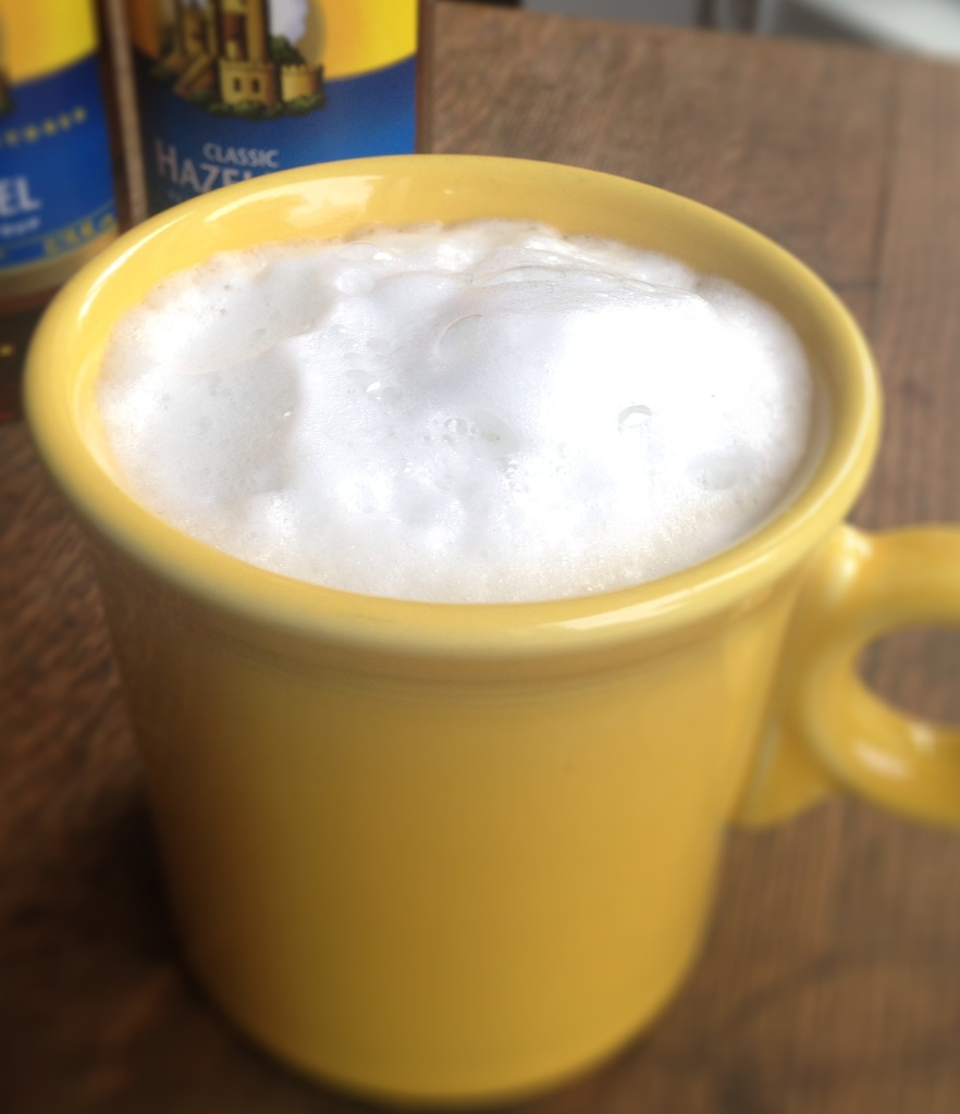 Homemade latte (microwave!)