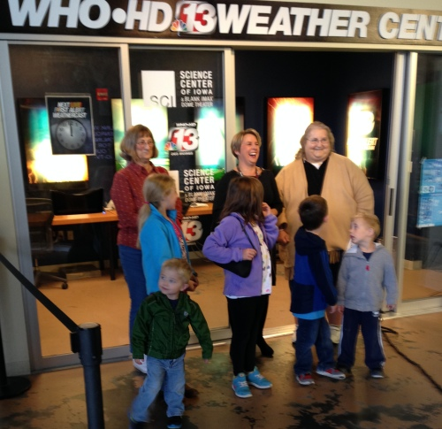 Learning about meteorology at the Science Center of Iowa