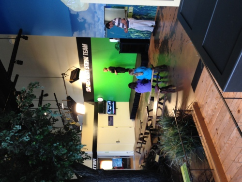 Learning about weather at the Science Center of iowa