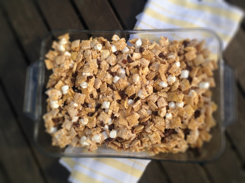 Chex Dessert Bars- simple, gooey, and yummy! And gluten free.