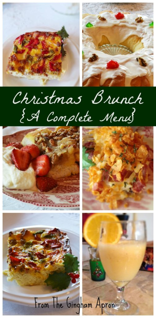A Christmas Brunch Menu