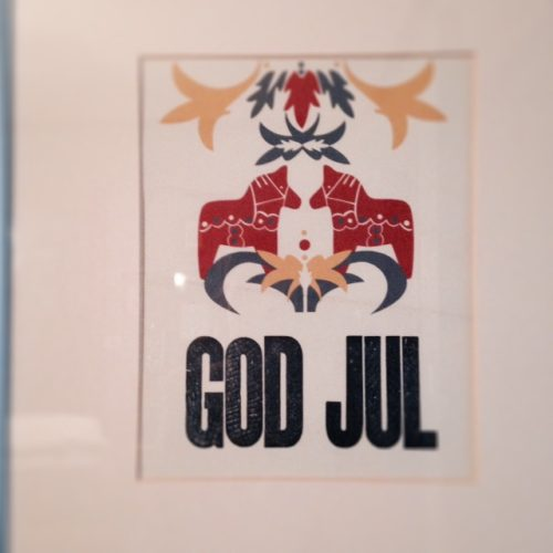 God Jul Letterpress