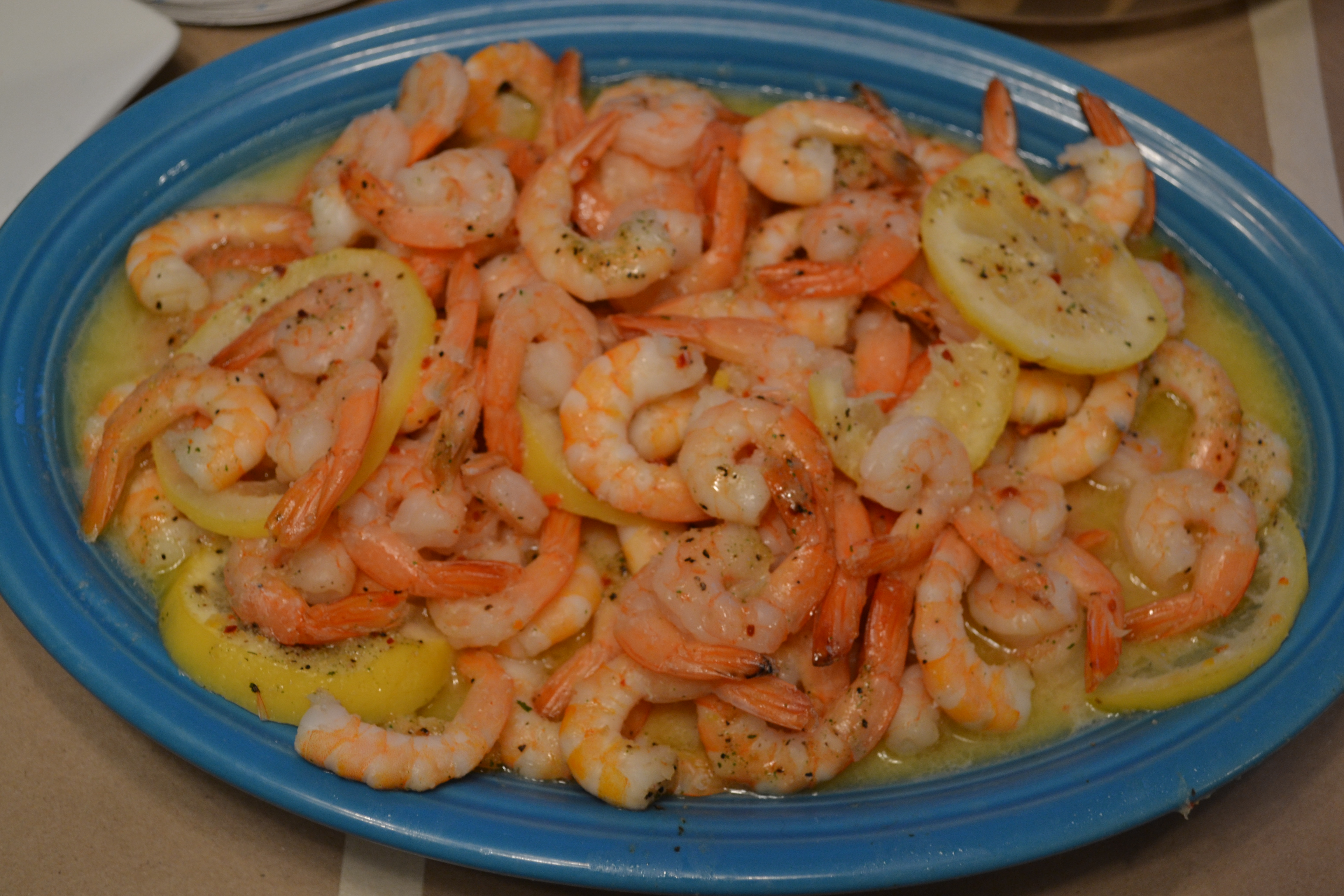 {4 Ingredient} Italian Lemon Shrimp