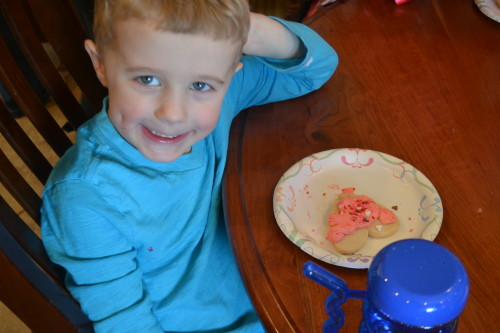 """I think this is my 4th cookie...Yummy!"" says Matthew"