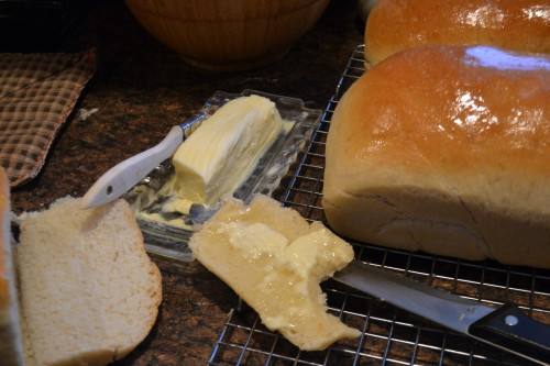 Oh my! Real butter, of course!