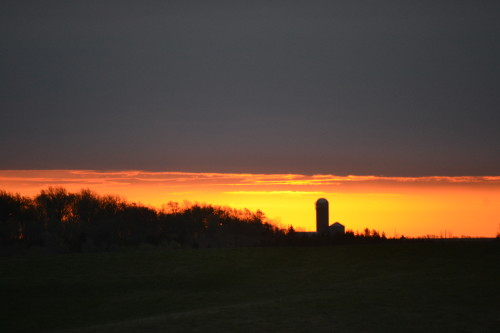 Gorgeous Spring sunrise in Iowa