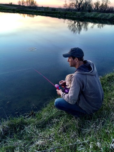 Anna loved fishing, but loved being with her Dad more.