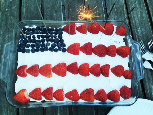 Fourth of July/ Independence Day Flag Cake