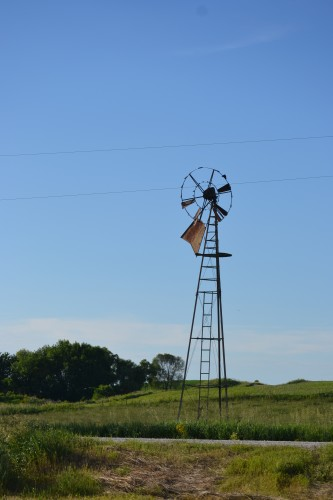 Old windmill in th pasture