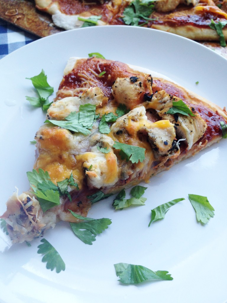 BBQ Chicken Pizza with Cilantro