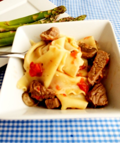beef and pasta toss