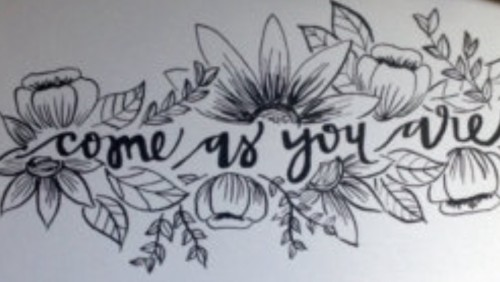 come as you are (image from pinterest)