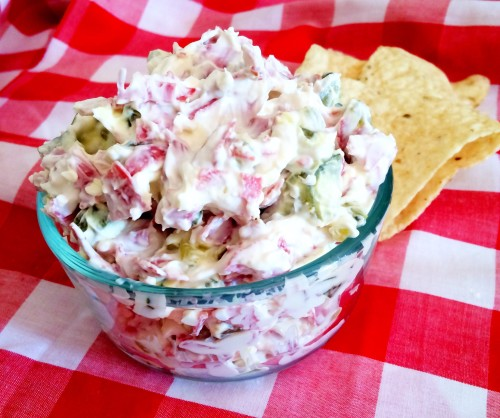dried beef pickle roll dip