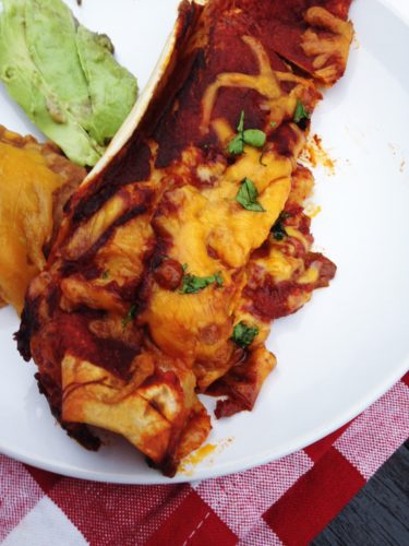 {5 Ingredient} Simple Beef Enchiladas