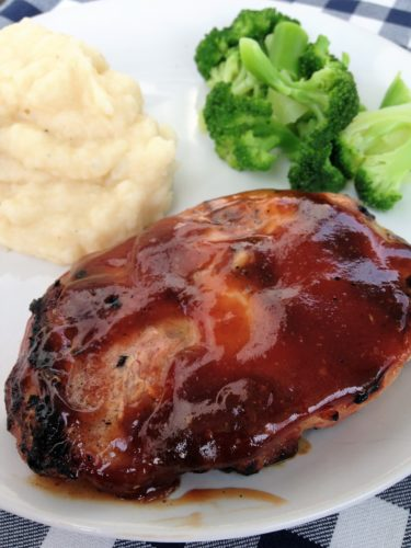 Grilled Pork Chops with Honey Balsamic Barbecue Sauce ...