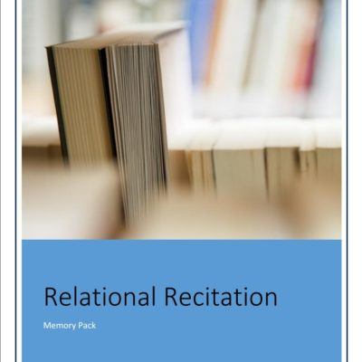 Relational Recitation {A Review and a Giveaway!}