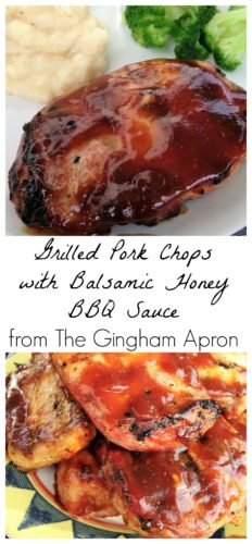 Grilled Pork Chops with Honey Balsamic BBQ sauce
