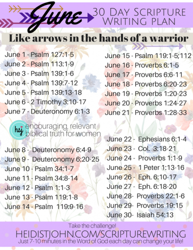June-Scripture-Writing-Plan.-Like-arrows-in-the-hands-of-a-warrior..-386x500