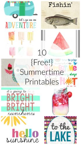 Summer Printables for FB