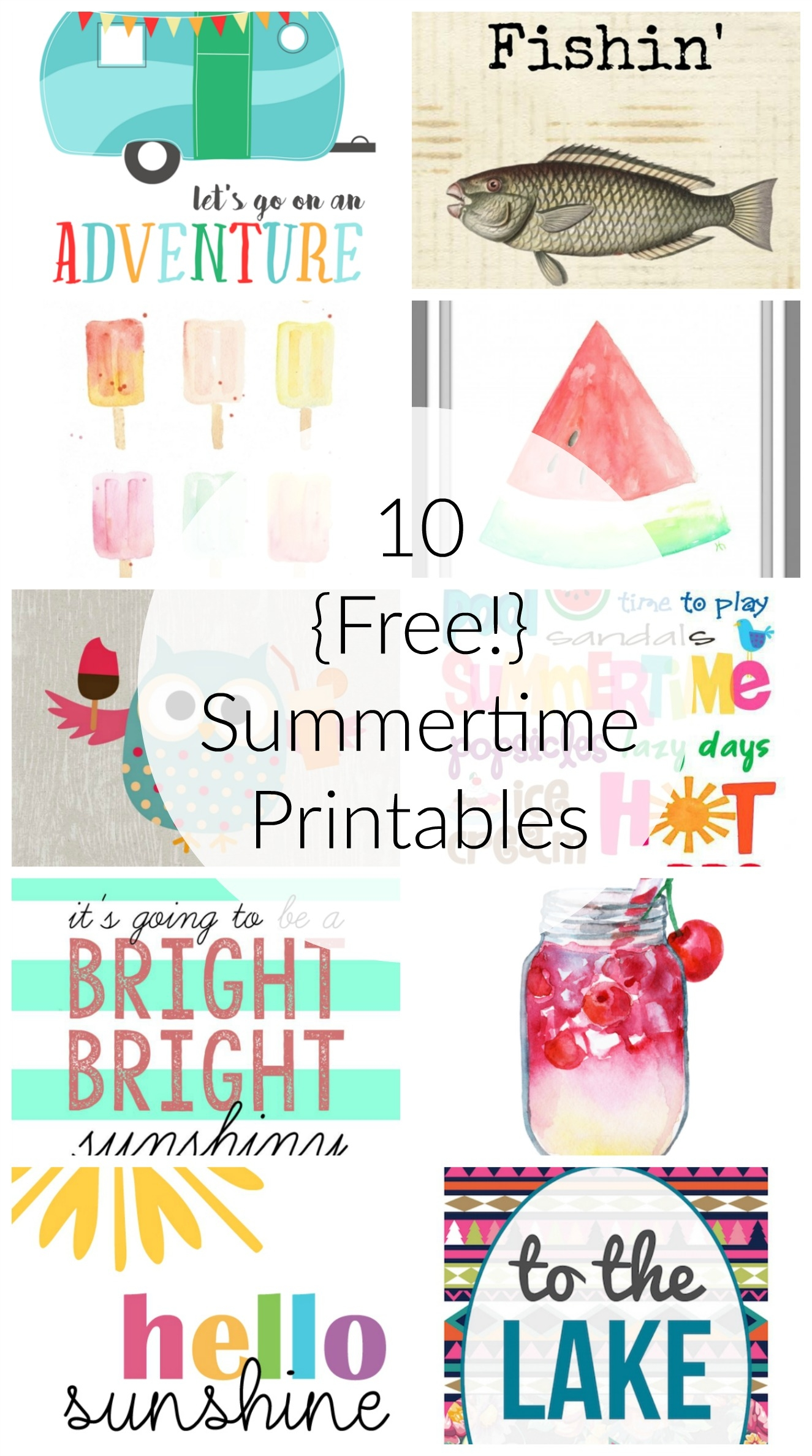 This is a picture of Canny Free Summer Printables