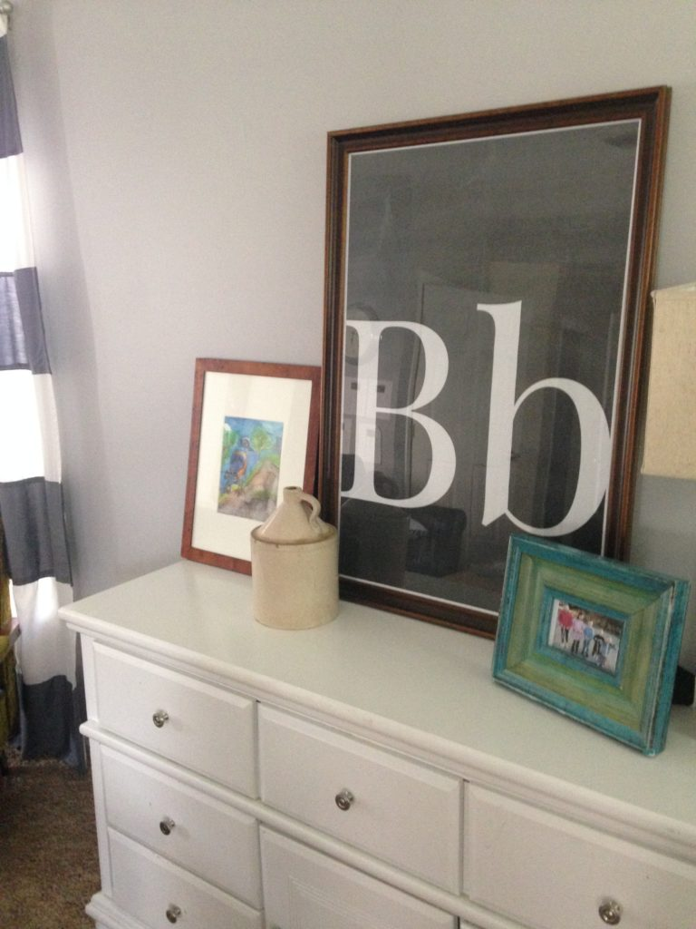 DIY Huge Letter and Picture Art (it's CHEAP!)