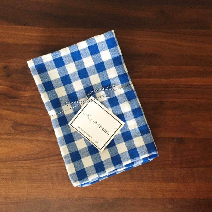 Ann + Anthony Blue Gingham Two Pack