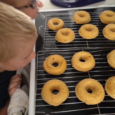 Baked Pumpkin Cinnamon and Sugar Donuts