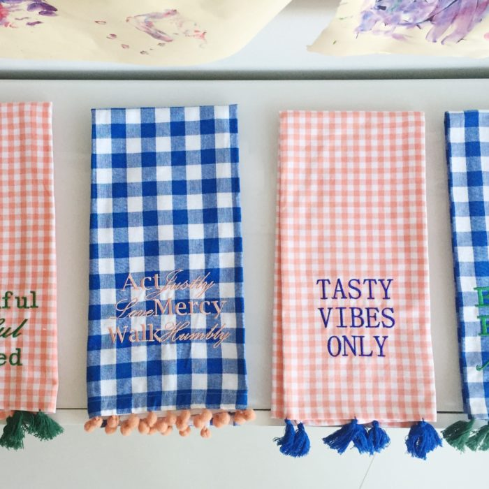 Ann + Anthony Embroidered Tea Towels