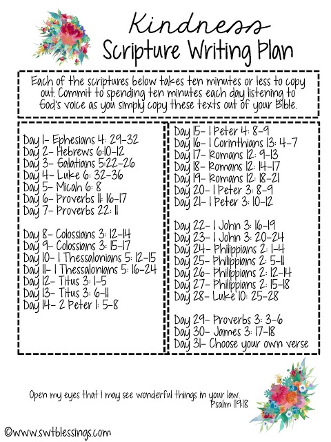October Scripture Writing Plans from Sweet Blessings