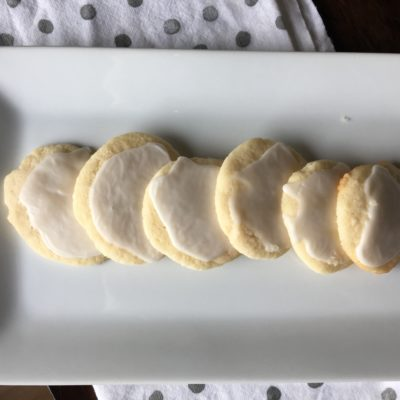 Frosted Almond Cookies