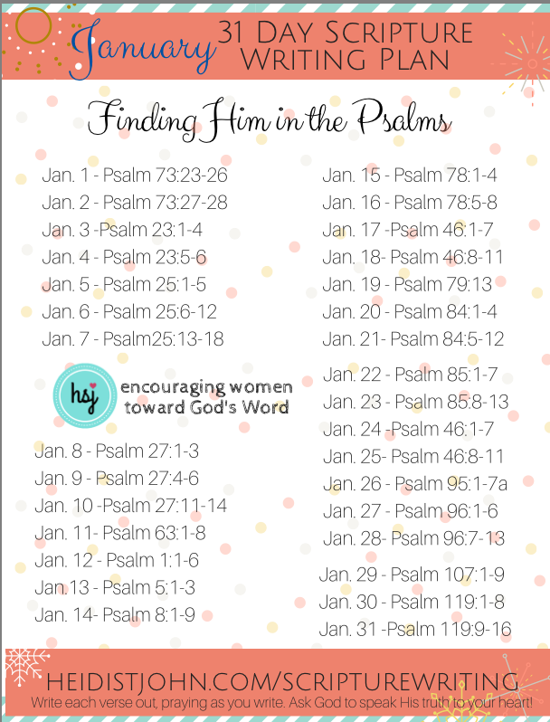 January Scripture Writing from The Busy Mom