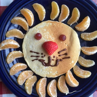 Lion Pancakes for Kids