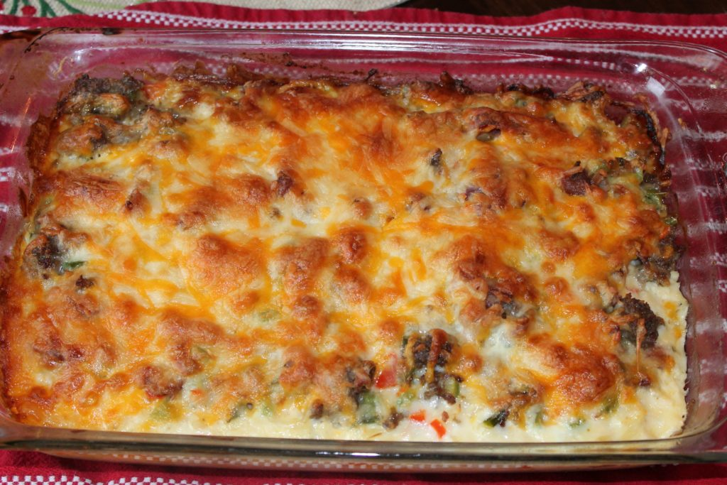 meat and potato egg casserole