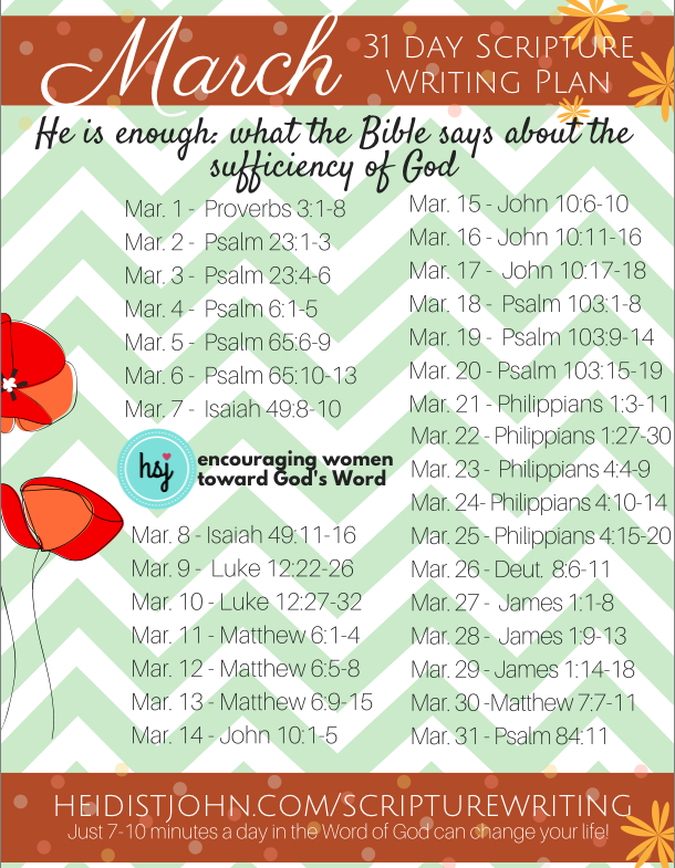 March Scripture Writing From the Busy mom