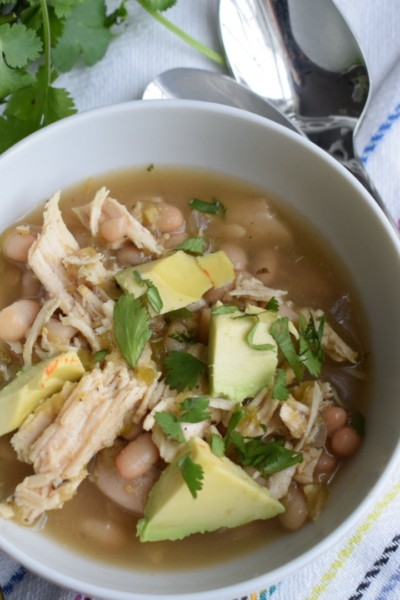 Salsa Verde Chicken Chili