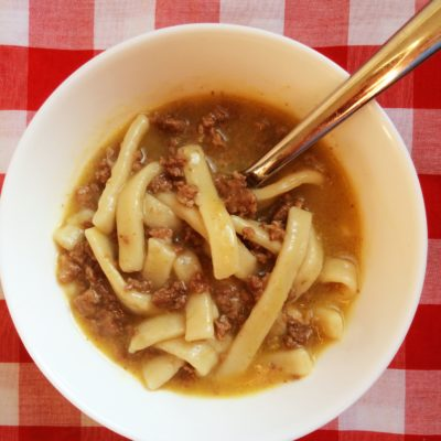 Comforting Hamburger and Noodles