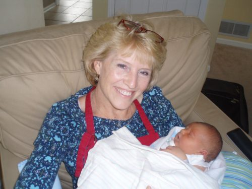 My mom with baby Matthew