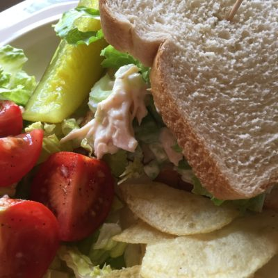 Easy Breezy Chicken Salad Lunch