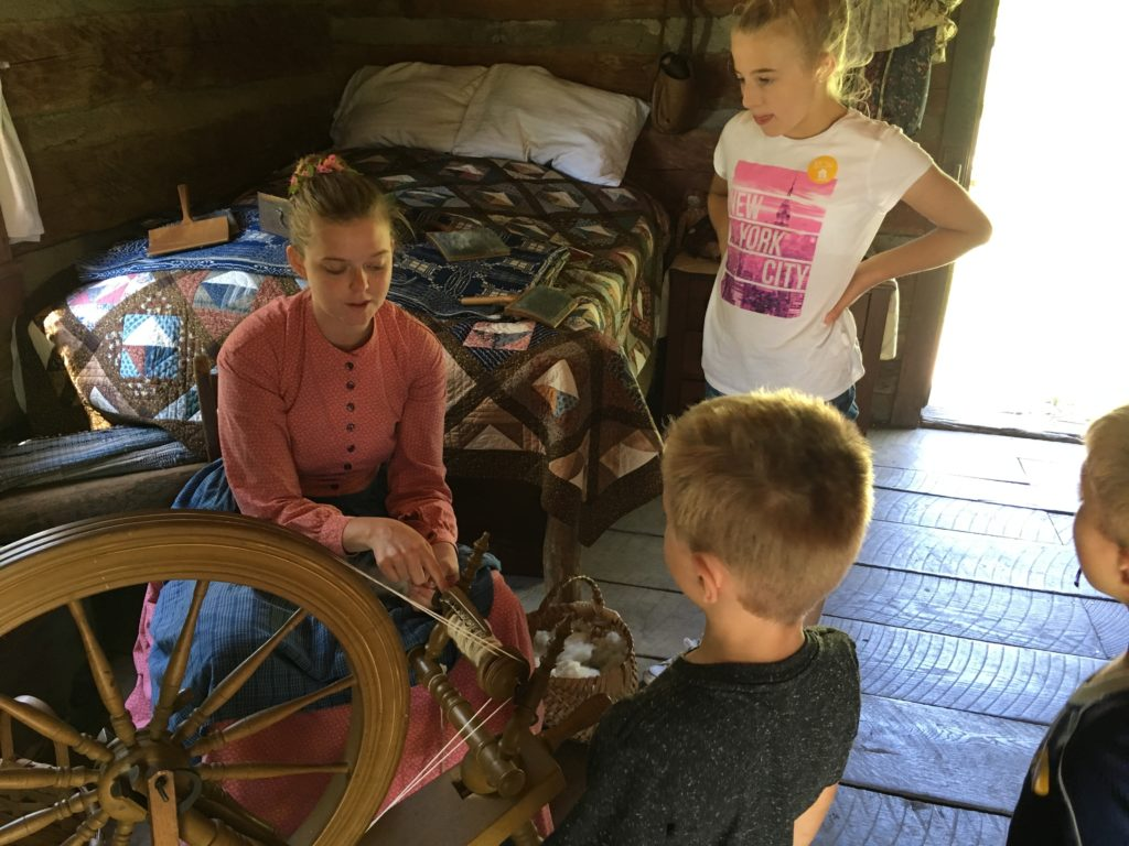 Carding and Spinning Wool