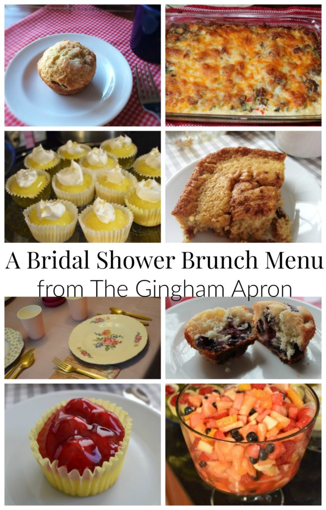 Bridal Shower Brunch Complete Menu