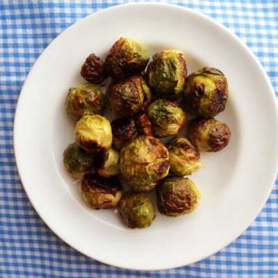 Roasted Brussel Sprouts with Sriracha Aioli