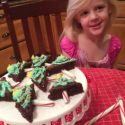 Anna and the Christmas Tree Brownies