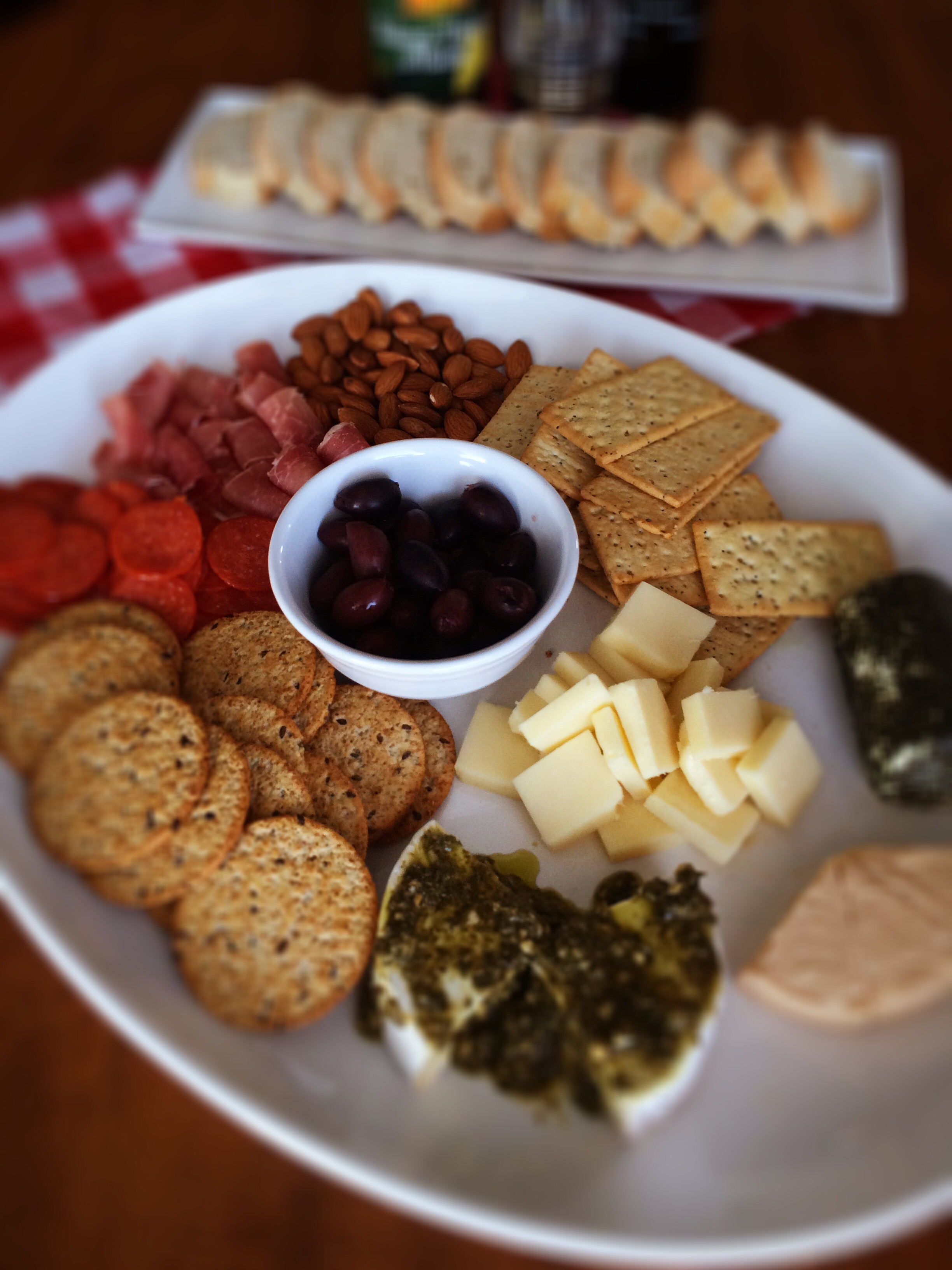 Simple Antipasto Platter Italian Appetizer The Gingham Apron
