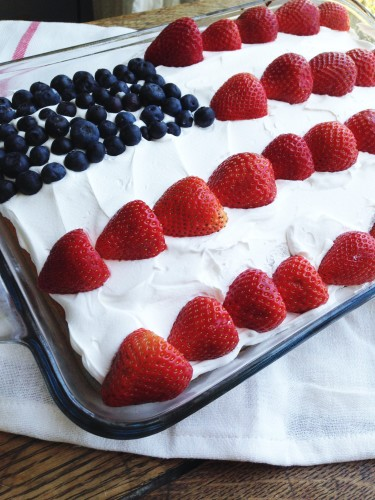 4th Of July Flag Cake The Gingham Apron