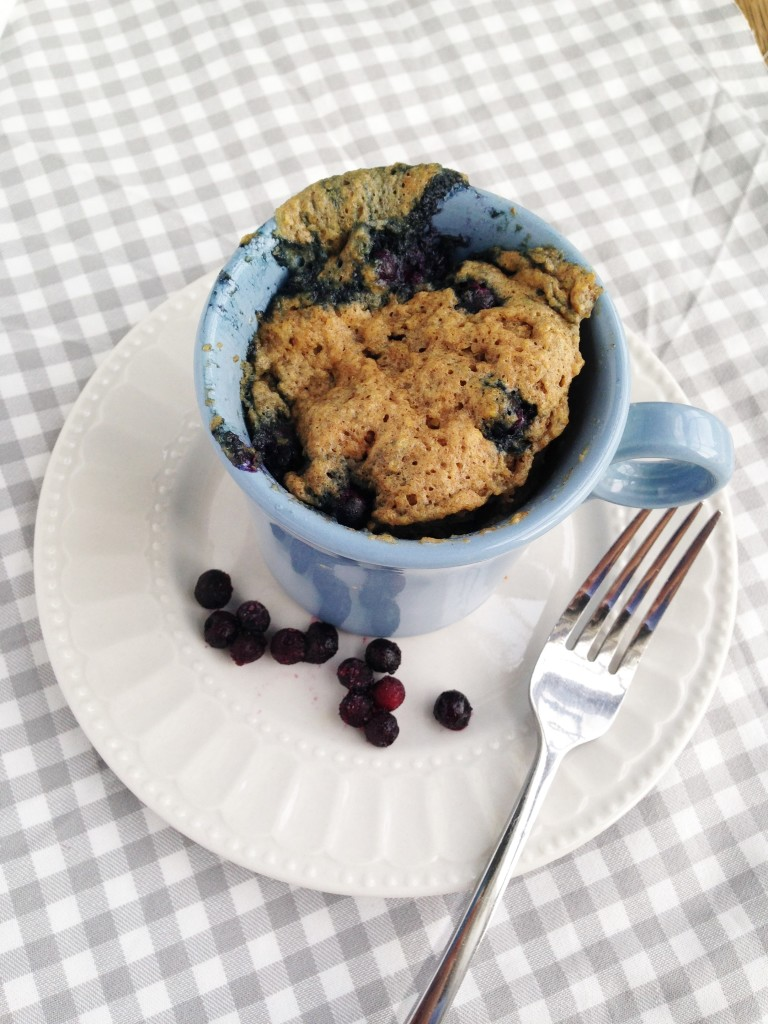 Blueberry Muffin In A Mug The Gingham Apron