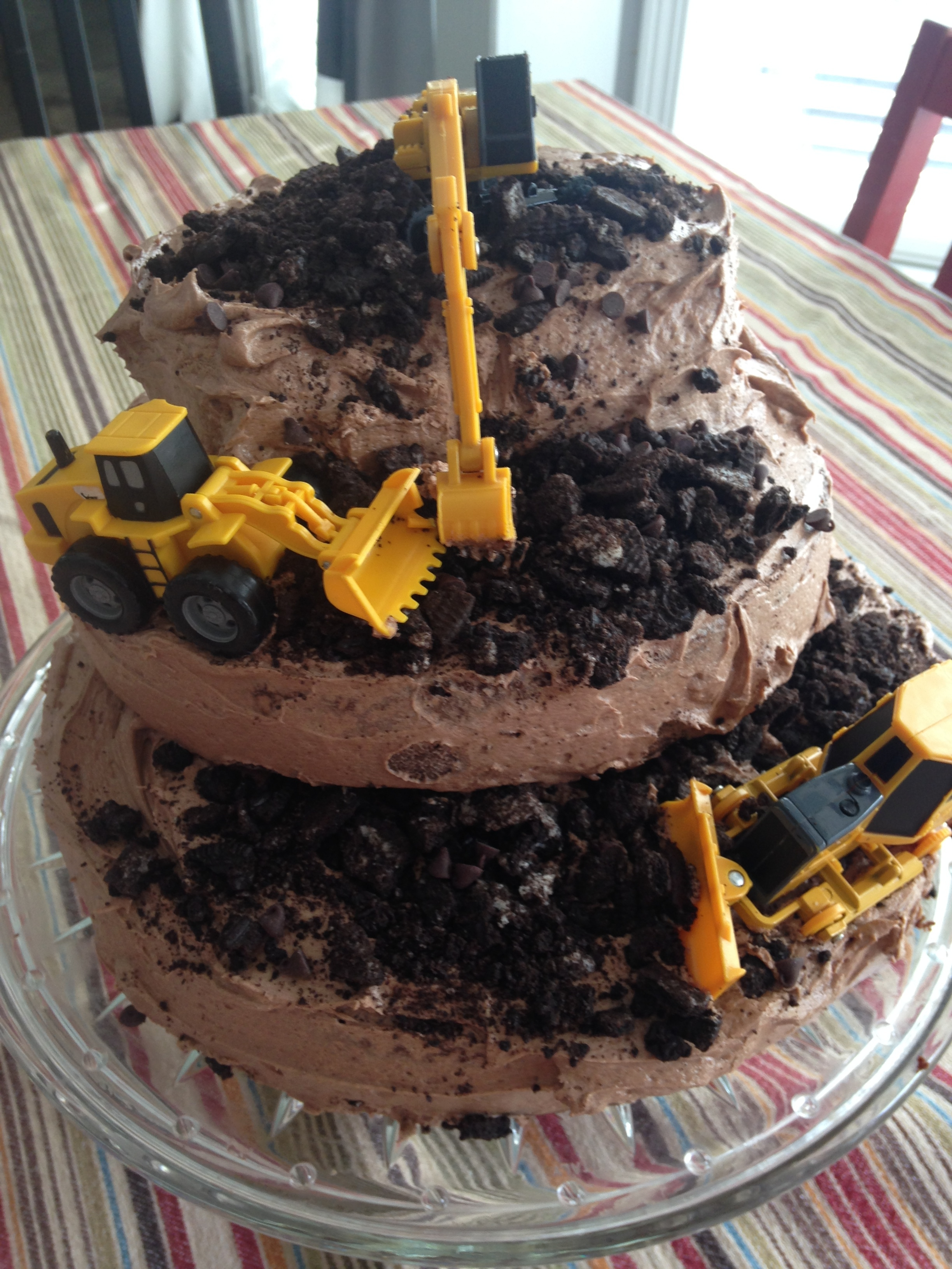 Magnificent Bulldozer Construction Birthday Cake The Gingham Apron Funny Birthday Cards Online Fluifree Goldxyz
