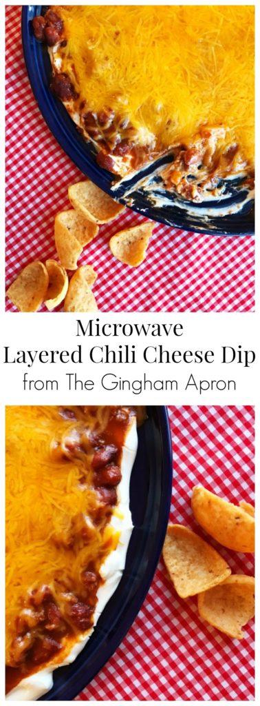 Microwave Layered Chili Cheese Dip